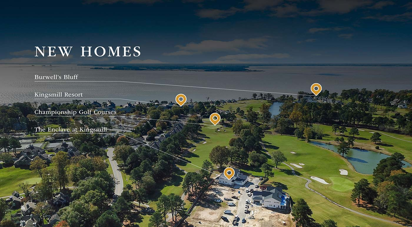 New Homes, The Enclave at Kingsmill, Burwell's Bluff